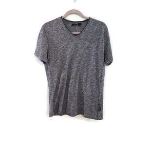 HUGO BOSS slim fit v-neck heather gray t-shirt